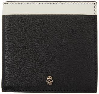 Alexander McQueen SSENSE Exclusive Black Skull Bifold Wallet