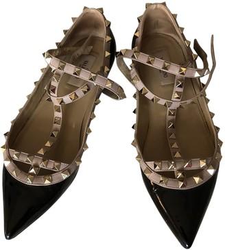 Valentino Rockstud Black Patent leather Ballet flats