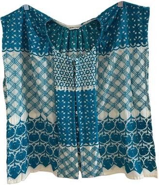 Tsumori Chisato Blue Cotton Top for Women Vintage