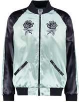 Hype Rose Bomber Jacket Black/mint
