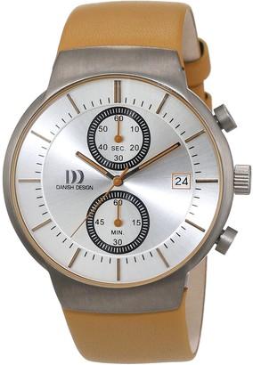 Danish Design Men's Quartz Watch Analogue Display and Leather Strap 3316342