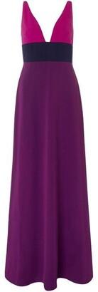 Jill by Jill Stuart Colour block maxi crepe V neck dress