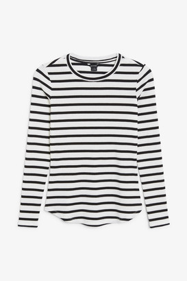 Monki Stretchy ribbed top