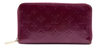 Louis Vuitton Zippy Purple Patent leather Wallets