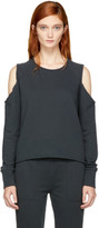 Rag & Bone Black Standard Issue Slash Sweatshirt