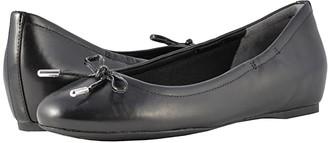 Rockport Total Motion Hidden Wedge Tied Ballet (Black Nappa) Women's Flat Shoes