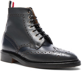 Thom Browne Classic Leather Wingtip Boots