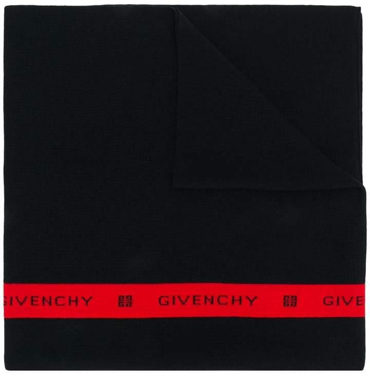 Givenchy intarsia logo stripe scarf