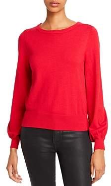 Aqua Balloon-Sleeve Crewneck Sweater - 100% Exclusive