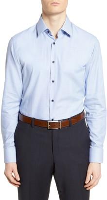 BOSS Slim Fit Geometric Dress Shirt