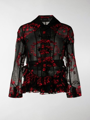 Simone Rocha Embroidered Floral Jacket