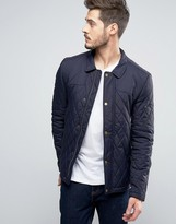 Jack Wills Speyview Quilted Jacket in Navy