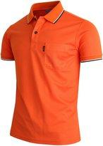 BCPOLO Men's Polo Shirt 1 Chest Pocket Dri Fit Polo Shirt Short Sleeve Various Polo-XL