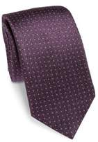Saks Fifth Avenue COLLECTION Pin Dot Silk Tie
