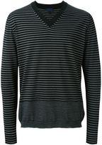 Lanvin striped v-neck jumper