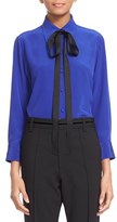 Marc Jacobs Women's Crepe De Chine Tie Neck Blouse