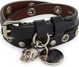 Alexander McQueen Eyelet double wrap bracelet