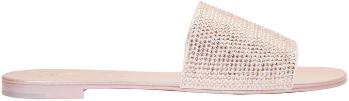 Giuseppe Zanotti Nuvo Roll Swarovski Crystal Sandals