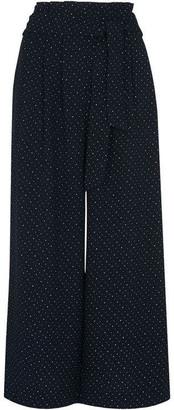 Whistles Micro Spot Tie Waist Trousers