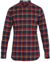 Givenchy Contemporary-fit Checked Cotton-flannel Shirt