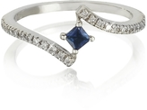 Forzieri Squared Natural Sapphire 18K White Gold Ring
