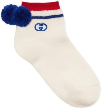 Gucci Interlocking-G Pom Ankle Socks