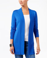 JM Collection Lace-Up-Sleeve Cardigan, Only at Macy's