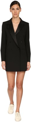 Max Mara Stretch Satin Gabardine Jacket Dress