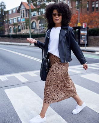 Something 4 Olivia - Women's Neutrals Pencil skirts - Emily Animal Printed Skirt - Size One Size, 10 at The Iconic