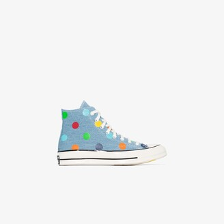 Converse X Tyler the Creator Blue Chuck 70 sneakers
