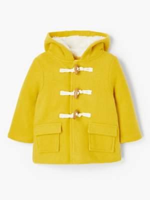 John Lewis & Partners Baby Duffle Coat, Yellow