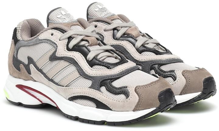adidas Temper Run faux suede sneakers