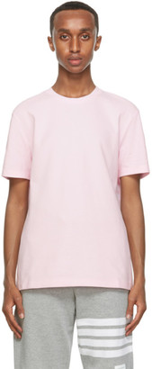 Thom Browne Pink Pique 4-Bar T-Shirt