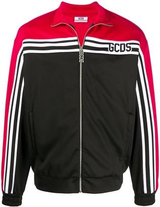 GCDS Colour Block Zipped Sweatshirt