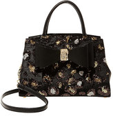 Betsey Johnson Evening Prowl Sequin Two-Fer Satchel