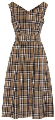 Max Mara S Zurca checked twill dress