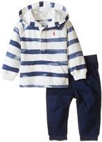 Ralph Lauren Yarn-Dyed Fleece Hooded Pants Set (Infant)