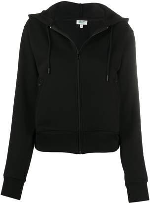Kenzo logo print zip-front hoodie