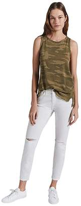 Current/Elliott The Muscle Tank Top (Army Camo) Women's Clothing