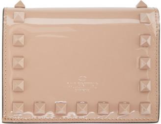 Valentino Pink Garavani Rockstud Bifold Wallet