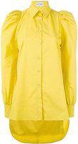 Daizy Shely - puff sleeve shirt - women - Cotton/gingerbread - 38