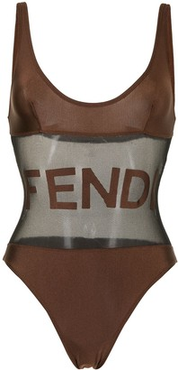 Fendi Pre-Owned Embroidered Logo Swimsuit