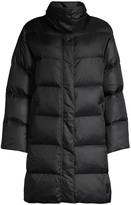 Eileen Fisher Funnelneck Quilted Recycled Nylon Coat