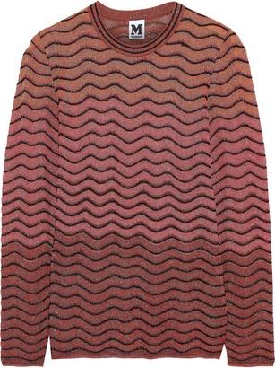 M Missoni Metallic Ombre Crochet-knit Top