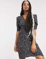 AllSaints josephine leopard print mini dress