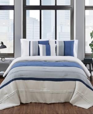 London Fog Newport Stripe 3 Piece Comforter Set, Twin Xl Bedding