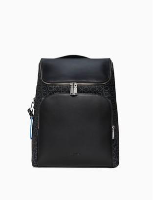Calvin Klein Refined Monogram Logo Backpack