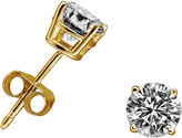 FINE JEWELRY 3/8 CT. T.W. Round White Diamond 14K Gold Stud Earrings