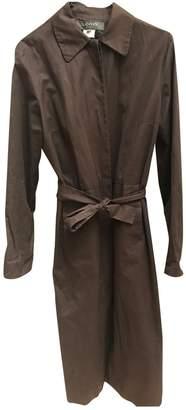 Lanvin Brown Cotton Coat for Women Vintage