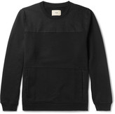 Folk - Panelled Cotton-twill And Loopback Cotton-jersey Sweatshirt